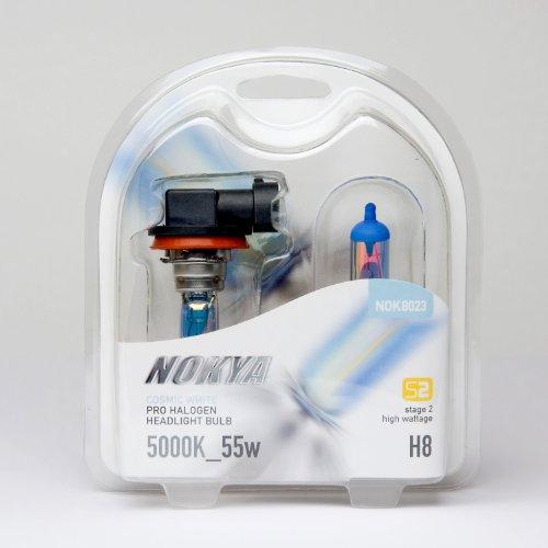 Nokya H8 Headlight Bulbs — Cosmic White 5000K 55W Stage 2