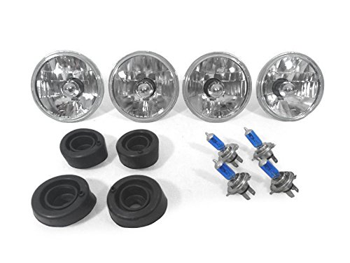 CPW tm 69 70 71 GMC TRUCK TRUCKS EURO HEADLIGHTS WITH XENON HID HALOGEN BULBS NEW - 4 Lights