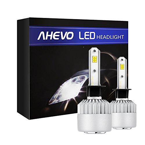 AHEVO H1 LED Headlight Bulbs 6500K 8000 Lumens Extremely Super Bright CSP Chips Conversion KitXenon White