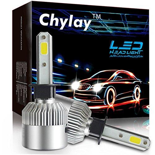 Chylay H1 Led Headlight Bulb COB Chips Fog Light Led Kit High Beam 72W 8000LM White 6500K Auto Headlamp H1 White