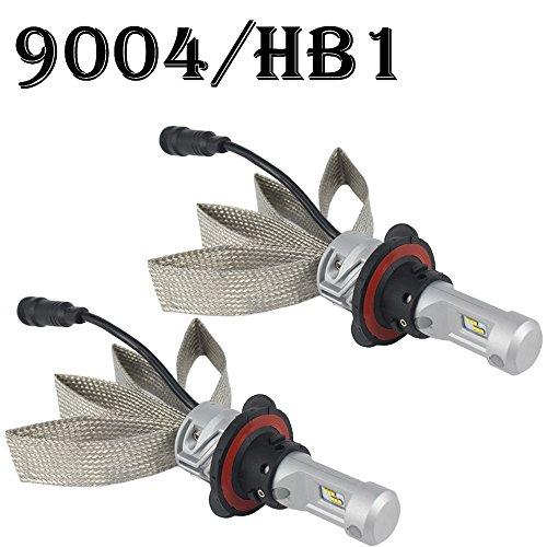 QUAKEWORLD 9004 HB1 LED Headlight Bulbs - Philips Chips Dual HiLo Beam 8000LM 6500K Cool White - All-In-One Plug n Play Conversion Kit For Ford Toyota Nissan Chevy Dodge Ram Honda Isuzu Jeep Suzuki