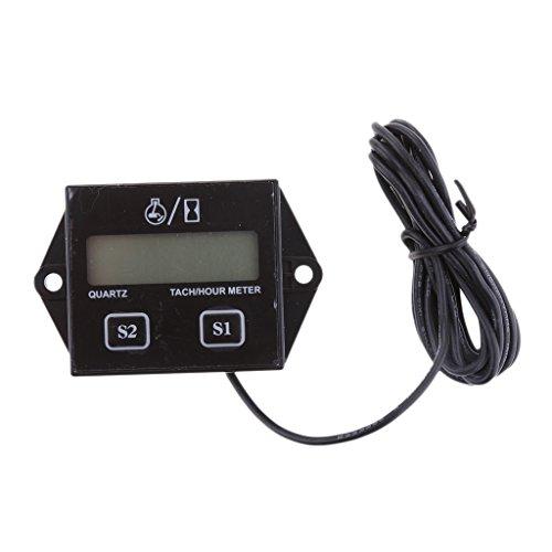 Jili Online Digital Engine Tach Hour Meter Inductive for Motorcycle Gasoline Motor