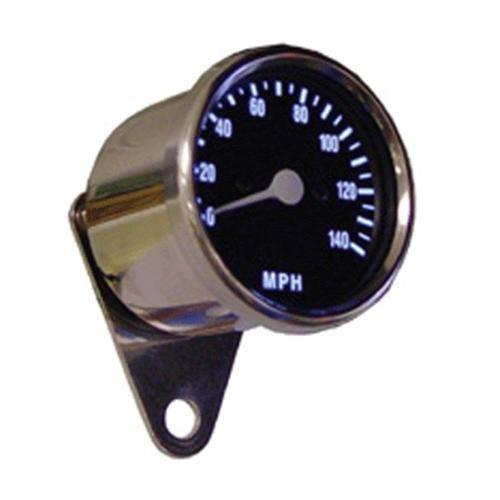 Black Face Iluminated Electronic Speedometer w Chrome Bracket for Harley 0105-4736