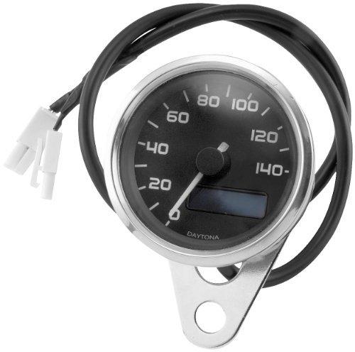 Electronic Speedometer Manufacturer Bikers Choice BLK ELECTRNC SPEEDO WBLUE LCD