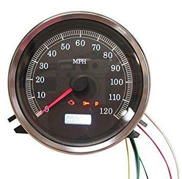 HardDrive T21-6984-12 Black Electronic Speedometer Face