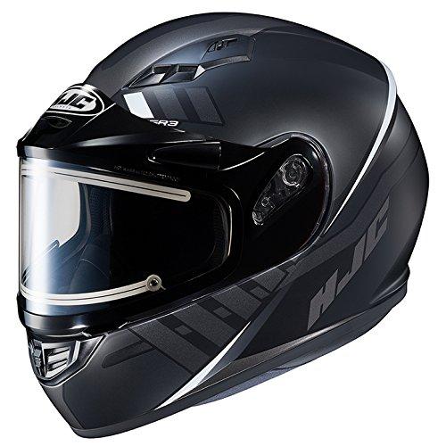 HJC CS-R3 Framed Electric Motorcycle Snowmobile Helmet Space BlackWhite MC-5SF Large More Size Options