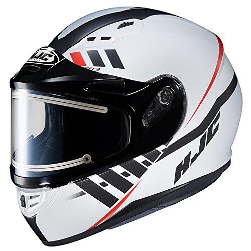 HJC CS-R3 Framed Electric Motorcycle Snowmobile Helmet Space WhiteBlackRed MC-10SF Medium More Size Options