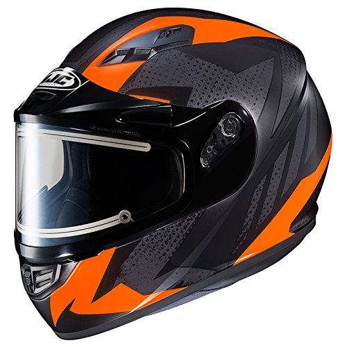 HJC CS-R3 Framed Electric Motorcycle Snowmobile Helmet Treague BlackOrange MC-6F 2X-Large More Size Options