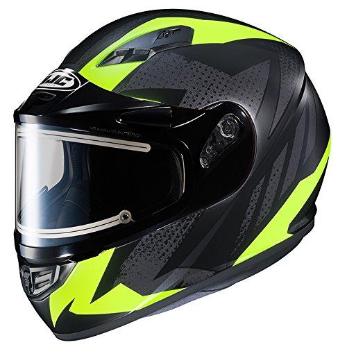 HJC CS-R3 Framed Electric Motorcycle Snowmobile Helmet Treague BlackYellow MC-3HF X-Large More Size Options