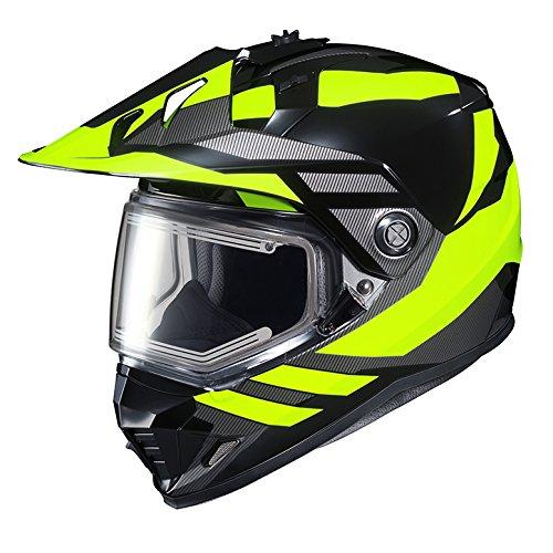 HJC DS-X1SN Snow Frameless Electric Motorcycle Snowmobile Helmet Lander BlackHi-Viz Yellow MC-3H Small More Size Options