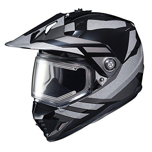 HJC DS-X1SN Snow Frameless Electric Motorcycle Snowmobile Helmet Lander BlackSilver MC-5 X-Large More Size Options