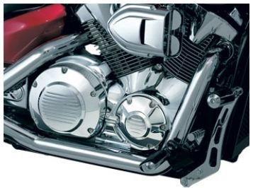 All Years Honda VT1300 Motorcycle Engine Cover Inserts for Honda VTX Dress-up Kit Chrome