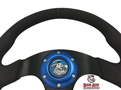 Polaris RZR XP 1000 Leather Steering wheel Blue stitch