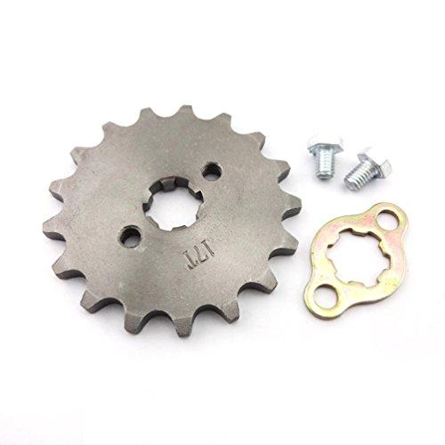 XLJOY 420 17mm 17 Tooth Engine Front Chain Sprocket Gear for 50cc 70cc 90cc 110cc 125cc ATV Pit Dirt Bike