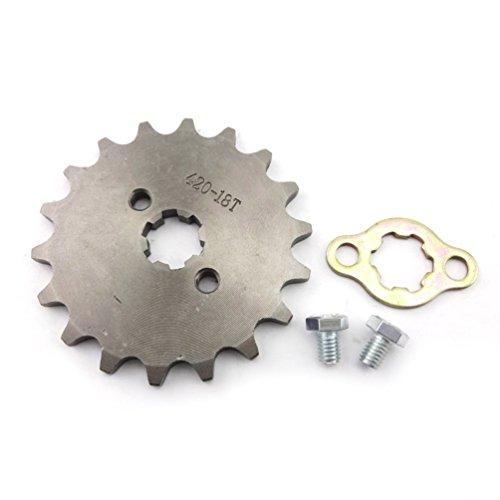 XLJOY 420 18 Tooth 17mm Front Chain Sprocket Gear for 50cc 70cc 90cc 110cc 125cc ATV Pit Dirt Bike