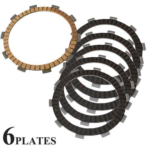 Caltric FRICTION CLUTCH PLATE Fits HONDA VT500C VT500-C SHADOW 500 1983 1984 1985 1986 6-PLATES