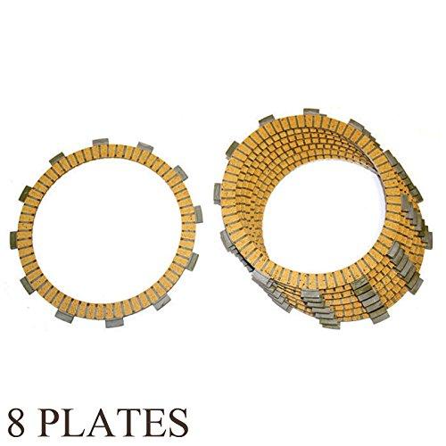 Caltric FRICTION CLUTCH PLATE Fits KAWASAKI 650 KL650 KLR650 1996-2011 8-PLATES
