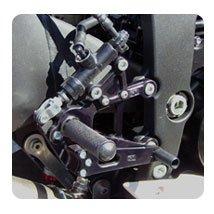 Woodcraft Rearsets Basic kit Black Kawasaki ZX6R 2009-
