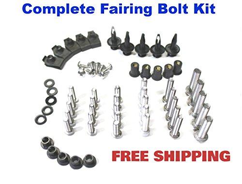 Complete Motorcycle Fairing Bolt Kit Suzuki GSX-R 600 2001 - 2003  GSXR 1000 2001 - 2002  GSXR 750 2000 - 2003 Body Screws Fasteners and Hardware