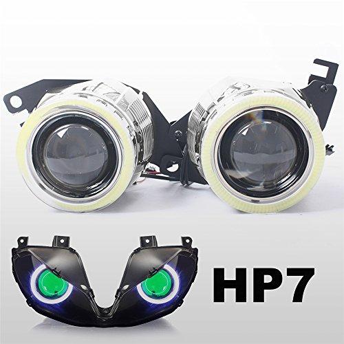 KT Tailor-Made HID Projector Kit HP7 for Triumph Daytona 675675R 2013-2017 Green Demon Eye