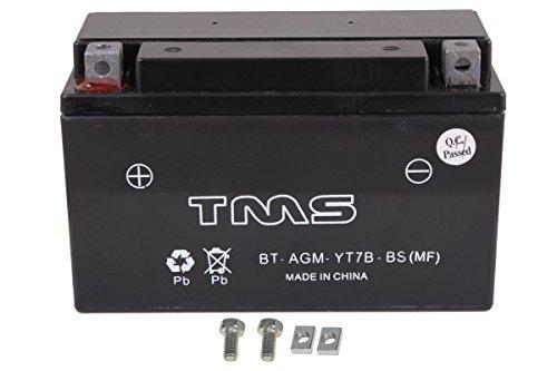TMS AGM ATV Battery Yt7b-bs Yt7b-4 for Suzuki Drz400 Essm 00-09 Yamaha Yfz450 04-09 450x Ds450 TTR 250 225 Zuma Yw 125 Triumph Daytona 675 2006-2011