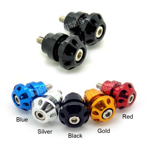 MIT Motors - BLACK - 8mm Universal Swingarm Spools - SUZUKI GSXR 600 750 1000 1300 Hayabusa TL1000S TLS TL1000R TLR Bandit SV 650