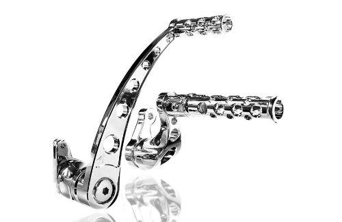 Battistinis Custom Cycles Billet Forward Control - Round - Stock Length - Chrome 07-604