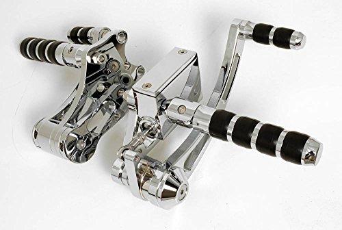 Chrome Billet 4 Bands Forward Controls for Harley-Davidson Big Twins 2000 - Present