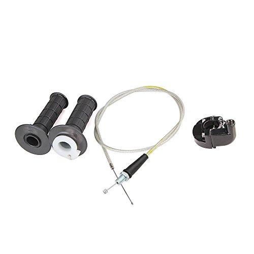 CISNO Twist Throttle Accelerator Grip Cable Casing Set for Honda XR50 CRF50 XR70 CRF70 50cc-125cc