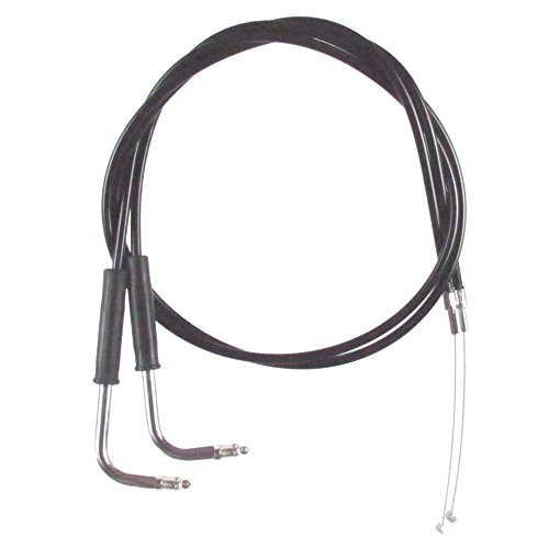 Black Vinyl Coated 4 Throttle Cable Set for 1999-2006 Harley-Davidson Sportster 883 Custom models - HC-0332-0140-883C