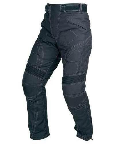 Spaceiz Designer Men's Motorcycle Armour Biker Black Textile Motorbike Waterproof Trouser, Black, W38-l32