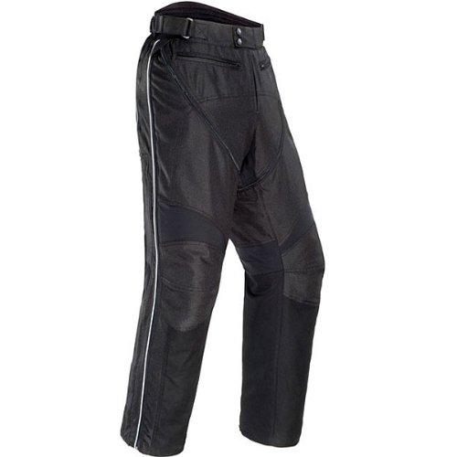 Tour Master Flex Men's Textile Sports Bike Racing Motorcycle Pants - Black / Small