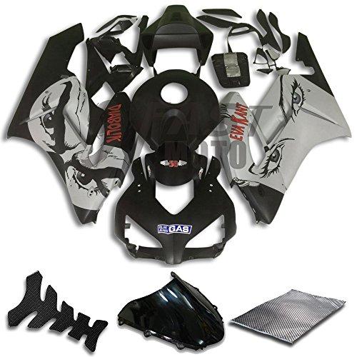 9FastMoto Fairings for honda 2004 2005 CBR1000 RR 04 05 CBR1000RR Motorcycle Fairing Kit ABS Injection Set Sportbike Cowls Panels Black Gray H0790