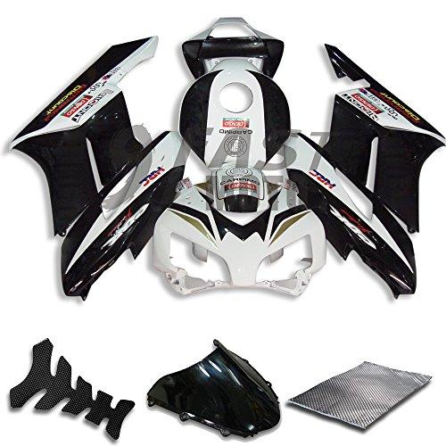 9FastMoto Fairings for honda 2004 2005 CBR1000 RR 04 05 CBR1000RR Motorcycle Fairing Kit ABS Injection Set Sportbike Cowls Panels Black White H0762