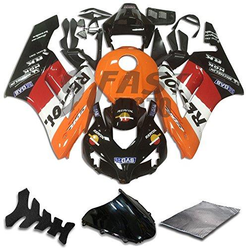 9FastMoto Fairings for honda 2004 2005 CBR1000 RR 04 05 CBR1000RR Motorcycle Fairing Kit ABS Injection Set Sportbike Cowls Panels Orange Black H0780