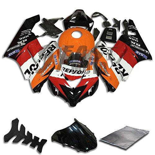 9FastMoto Fairings for honda 2004 2005 CBR1000 RR 04 05 CBR1000RR Motorcycle Fairing Kit ABS Injection Set Sportbike Cowls Panels Orange Black H0786