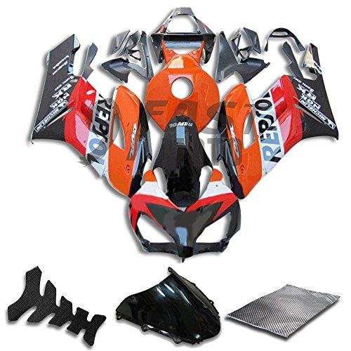 9FastMoto Fairings for honda 2004 2005 CBR1000 RR 04 05 CBR1000RR Motorcycle Fairing Kit ABS Injection Set Sportbike Cowls Panels Orange Black H1081