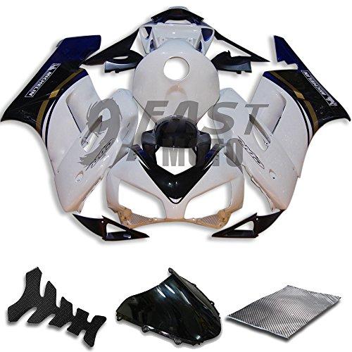 9FastMoto Fairings for honda 2004 2005 CBR1000 RR 04 05 CBR1000RR Motorcycle Fairing Kit ABS Injection Set Sportbike Cowls Panels White Blue H0754