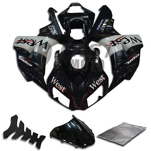 9FastMoto Fairings for honda 2006 2007 CBR1000 RR 06 07 CBR1000 RR Motorcycle Fairing Kit ABS Injection Set Sportbike Cowls Panels Black H0153
