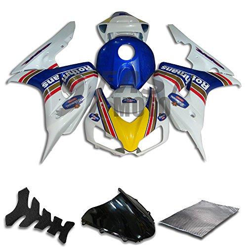 9FastMoto Fairings for honda 2006 2007 CBR1000 RR 06 07 CBR1000 RR Motorcycle Fairing Kit ABS Injection Set Sportbike Cowls Panels Blue White H0794