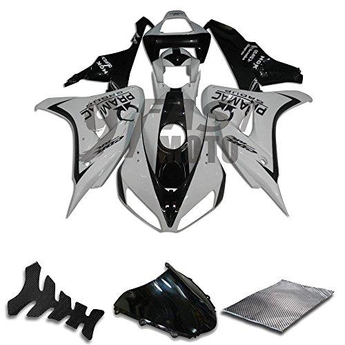 9FastMoto Fairings for honda 2006 2007 CBR1000 RR 06 07 CBR1000 RR Motorcycle Fairing Kit ABS Injection Set Sportbike Cowls Panels White Black H0796