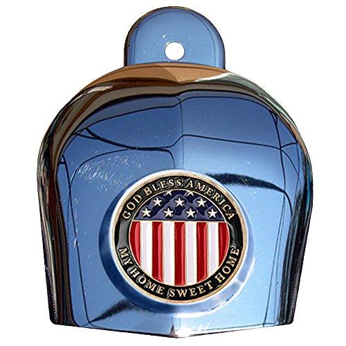 MotorDog69 American Flag Harley Horn Cover Coin Mount Set…