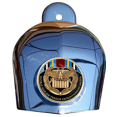 MotorDog69 Global War On Terror Expeditionary Medal Harley Horn Cover Coin Mount Set……
