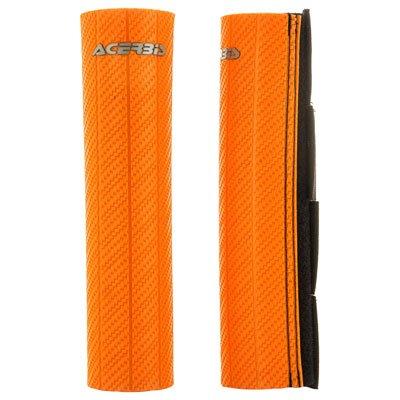 Acerbis Upper Fork Guards Orange for Yamaha IT200 1984-1986