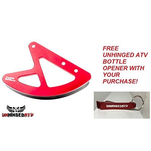 Tusk Billet Rear Disc Brake Guard and Free Unhinged ATV Bottle Opener Red  Fits Honda CRF250X 20122013