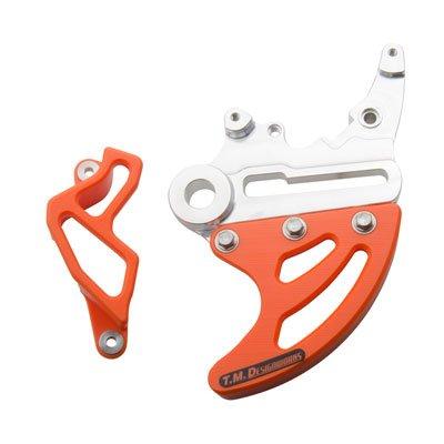 TM Designworks Rear Disc and Caliper Guard Kit Orange for KTM 250 XC-W E-Start 2008-2018