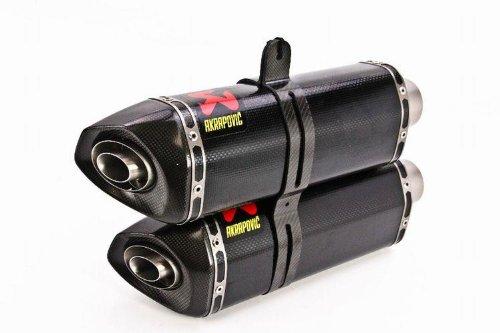 Akrapovic - S-D10SO6-ZC - Slip-On Dual Hexagonal Carbon Fiber Muffler