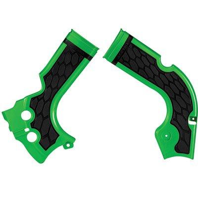 Acerbis X-Grip Frame Guards GreenBlack for Kawasaki KX250F 2015-2018
