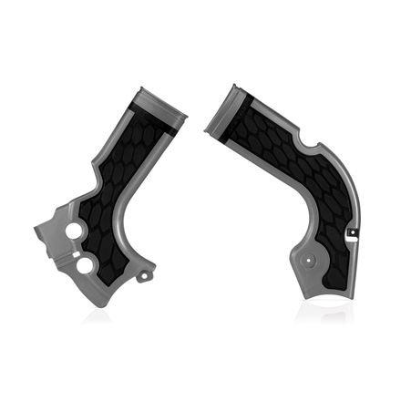 Acerbis X-Grip Frame Guards - SilverBlack 2640271015