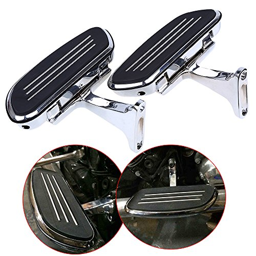 POSSBAY Motorcycle Foot Pegs Footrests Pedal with Bracket Aluminum for Harley 1993-2015